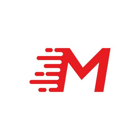 M letter fast logo  イラスト・ベクター素材