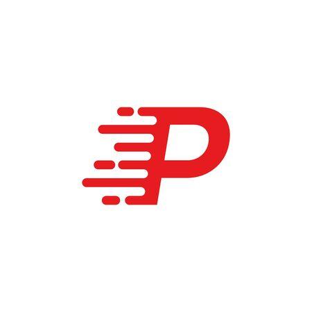 P letter fast logo  イラスト・ベクター素材