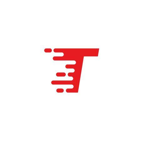 T letter fast logo