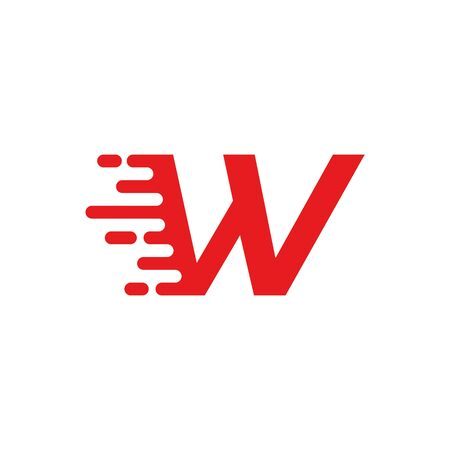 W letter fast logo 写真素材 - 127910744