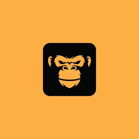 Gorilla logo icon  イラスト・ベクター素材