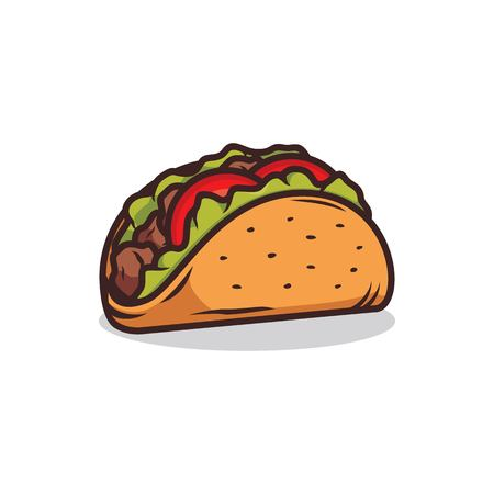 Tacos vector illustration isolated on white background Illustration