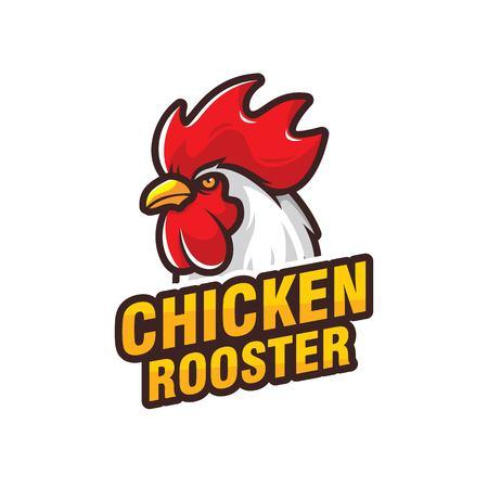 Chicken logo design isolated on white background  イラスト・ベクター素材