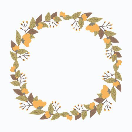 Flower wreath vector Ilustração