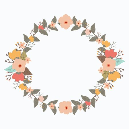 Flower wreath vector Иллюстрация