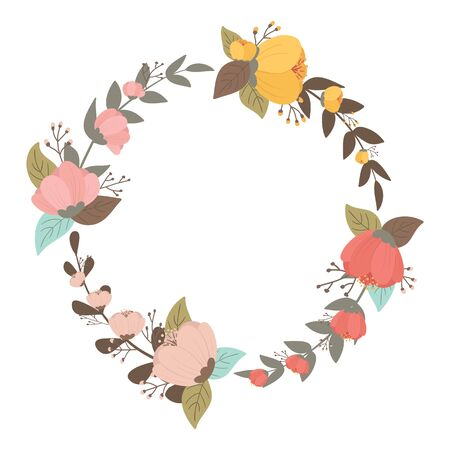 Flower wreath vector Фото со стока - 144695350