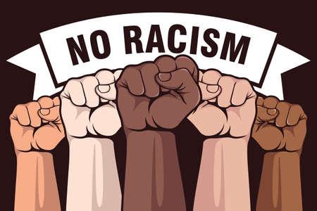 No racism poster design