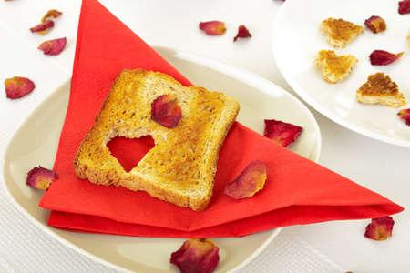 petit dejeuner romantique: Petit-d?jeuner romantique Banque d'images
