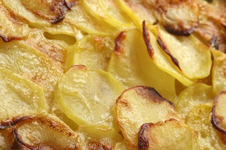 Classic comfort food - homemade potatoes au gratin