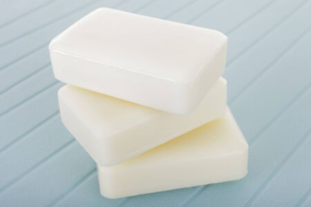 Three pieces of white soap