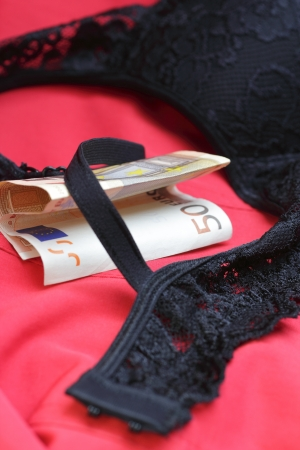 lingerie with money