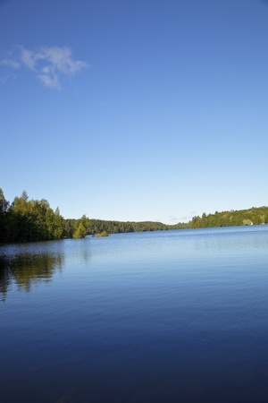 blue lake in Finland photo