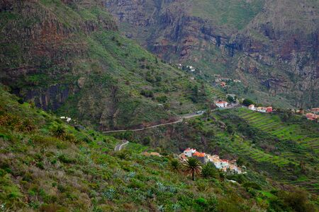 Village of Masca in the mountains of Tenerife island  photo