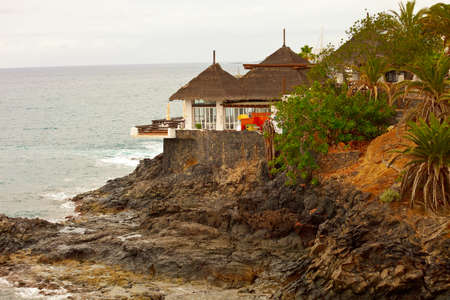 Restaurant with ocean view photo