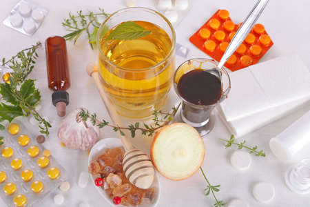 traditional remedy: Homemade Remedies for Flu Stock Photo