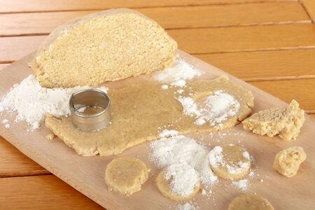 the dough: Cookie Dough Foto de archivo