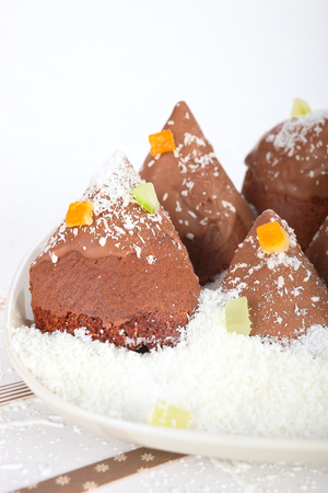 cioccolato natale: Chocolate albero di Natale biscotti
