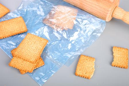 crushing: Crushing cookies Stock Photo