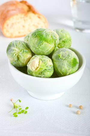 Frozen brussels sprouts Reklamní fotografie