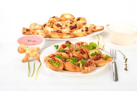 savory: Savory pies Stock Photo
