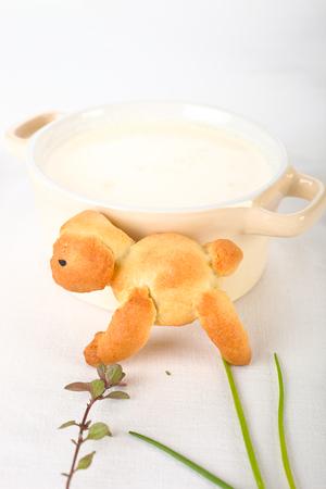 for kids: Funny food for kids. Animal bun.