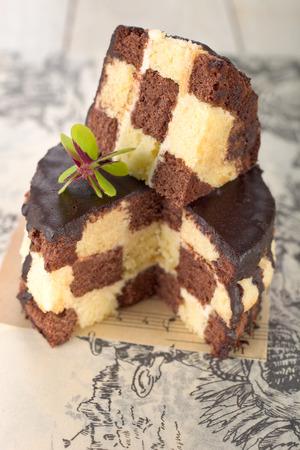 checker board: Checker board cake.