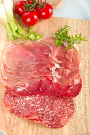 appetizers menu: Meat delicatessen