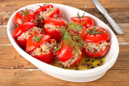 Filled tomatoes