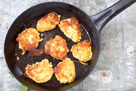 vegetarian hamburger: Vegetable patties with cauliflower and chickpeas