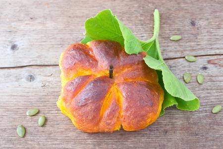Pumpkin dinner roll Stock Photo