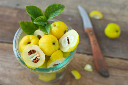 Quince fruits Stock Photo