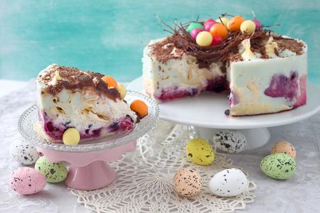 Chocolate easter egg nest pancake cake