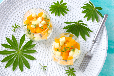 Avocado Mango Mozzarella Salad