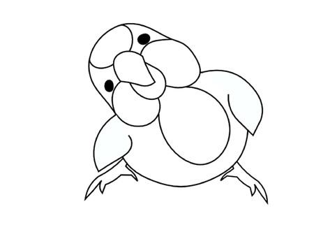 Little Chubby Bird Outline