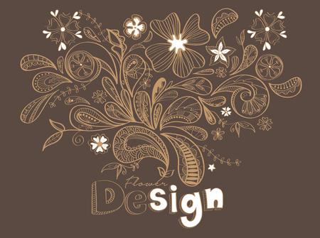dessin fleur: Batik Fleur Dessin Vecteur