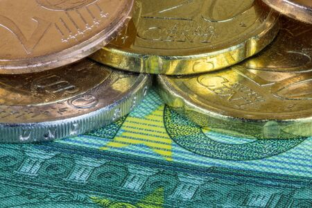 cents: Euro and cents Stock Photo