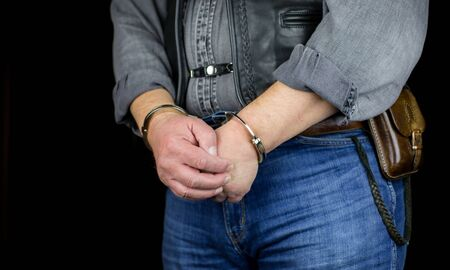 A man was handcuffed