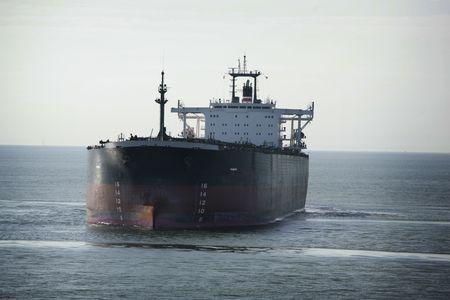 olietanker in de ocean Stockfoto