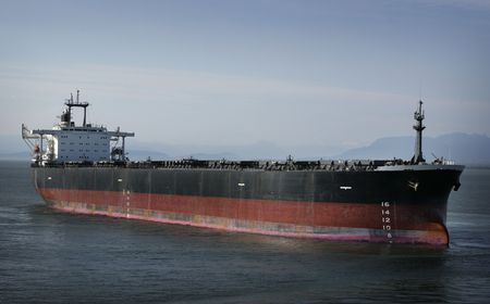 oil and gas industry: oil tanker at the ocean