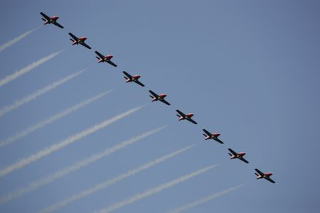 small jets fluying in formation at an airshow in canada Stock Photo - 5358678