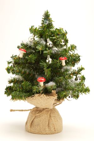 artifical: small artifical christmas tree