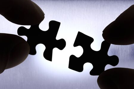 pices: two puzzle pices getting connected