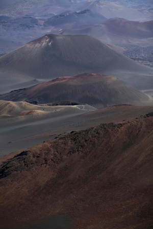 dormant: view of the Haleakala crater on Maui