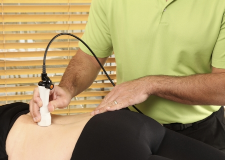 Laser physiotherapy Stockfoto