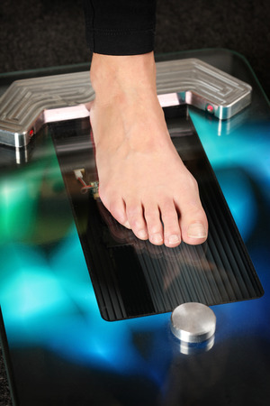 Foot on a 3D foot scanner for orthotics Stock fotó - 35025579