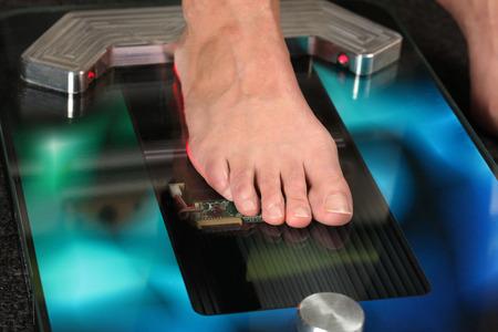 ortopedia: Pie en un escáner de pie 3D para los aparatos ortopédicos