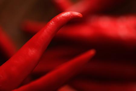 Close-up van rode chili pepers