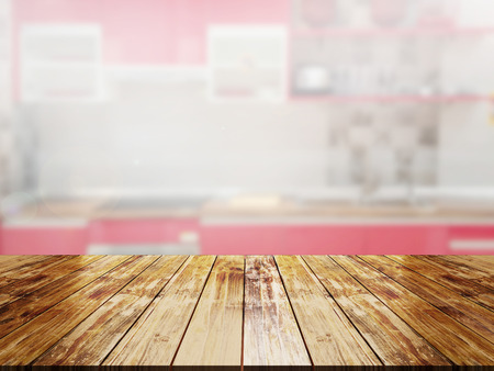luxury living room: top wood table with Blur Background