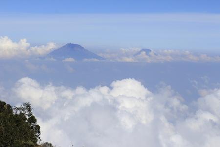 peak of the mountain from far away 写真素材