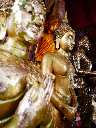 Peace of mind with Buddha at Wat Yai Chai Mongkhon, a Buddhist temple in Ayutthaya, Thailand